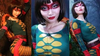 DIY: Teenage Mutant Ninja Turtle Costume / Tights into a Top [Eng Subs] タイツでつくるボディスーツ Thumbnail