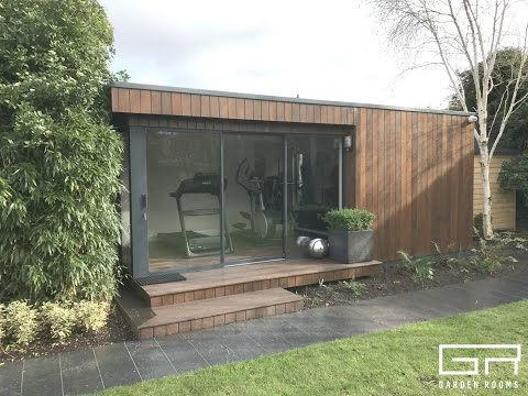 Contemporary and Functional Home Gym Garden Room in Dublin, Ireland