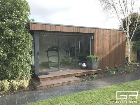 Contemporary And Functional Home Gym Garden Room In Dublin, Ireland