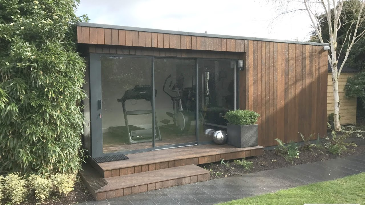Contemporary and functional home gym garden room in dublin