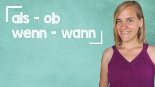 "German Lesson (106) - ""if"" and ""when"" - als, wenn, ob, wann - A2"