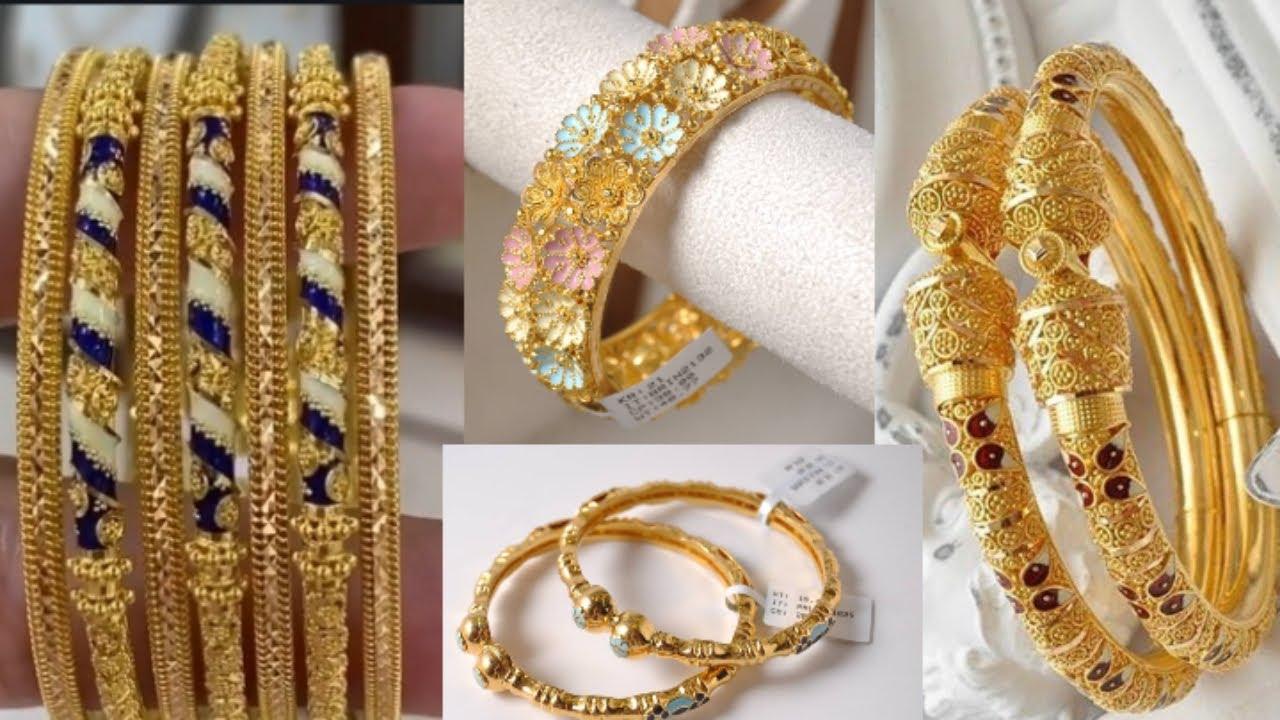 New design gold bangles //2020 latest gold bangles designs