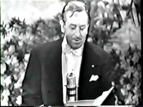 Walt Disney presents the music awards at the 25th Academy Awards