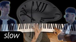 Rauf Faik - Детство (SLOW)● караоке   PIANO_KARAOKE ● + НОТЫ & MIDI