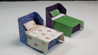 How To Make An Origami Bed | DIY Paper Crafts