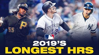 The Longest Home Runs of the 2019 MLB Season!