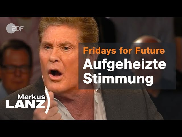 Klima-Krach mit Lindner, Hasselhoff und Neubauer - Markus Lanz vom 04.04.2019 | ZDF