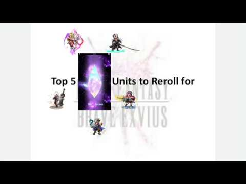 FFBE: Top 5 Units (Best Units to Get in a Reroll) - March 2018