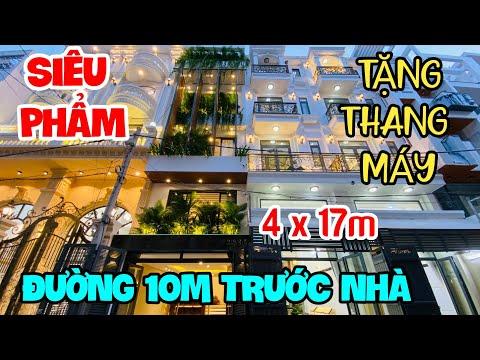 Nhà Bán Gò Vấp, Nhà Đẹp Đường 10m Có Thang Máy DT 4x17m Full Nội Thất