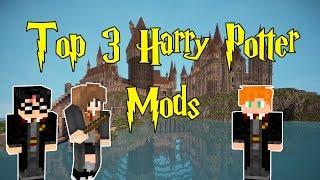 Top 3 Harry Potter Minecraft Mods - WHAT THE MOD!? - Minecraft Mod Showcase