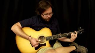 Acoustic Music Works Guitar Demo - Collings SJ Cutaway, Short Scale, Adirondack, Mahogany, Sunburst
