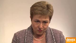 Commissioner Kristalina Georgieva on humanitarian spending in fragile states
