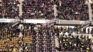 前橋育英高校  ハーフタイム応援シーン『それぞれの明日へ』~『振り向くな君は美しい』:第95回全国高校サッカー選手権大会2017