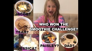 SMOOTHIE CHALLENGE | Jessica and Cody