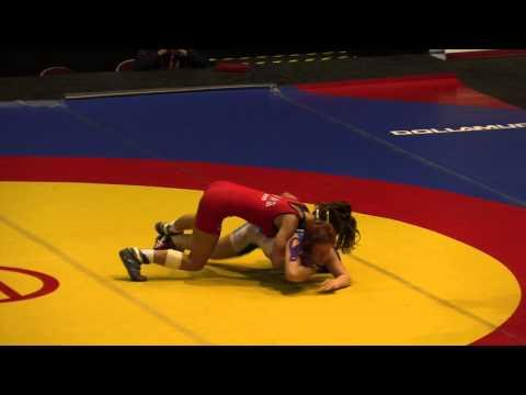 2014 Junior Pan-American Championships: 55 kg Megan Black (USA) vs. Amber Maschke (CAN)