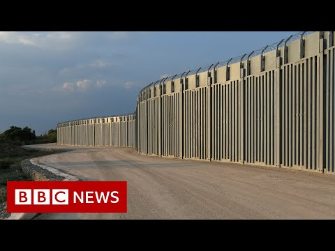 Greece installs fence and surveillance system on its border with Turkey - BBC News