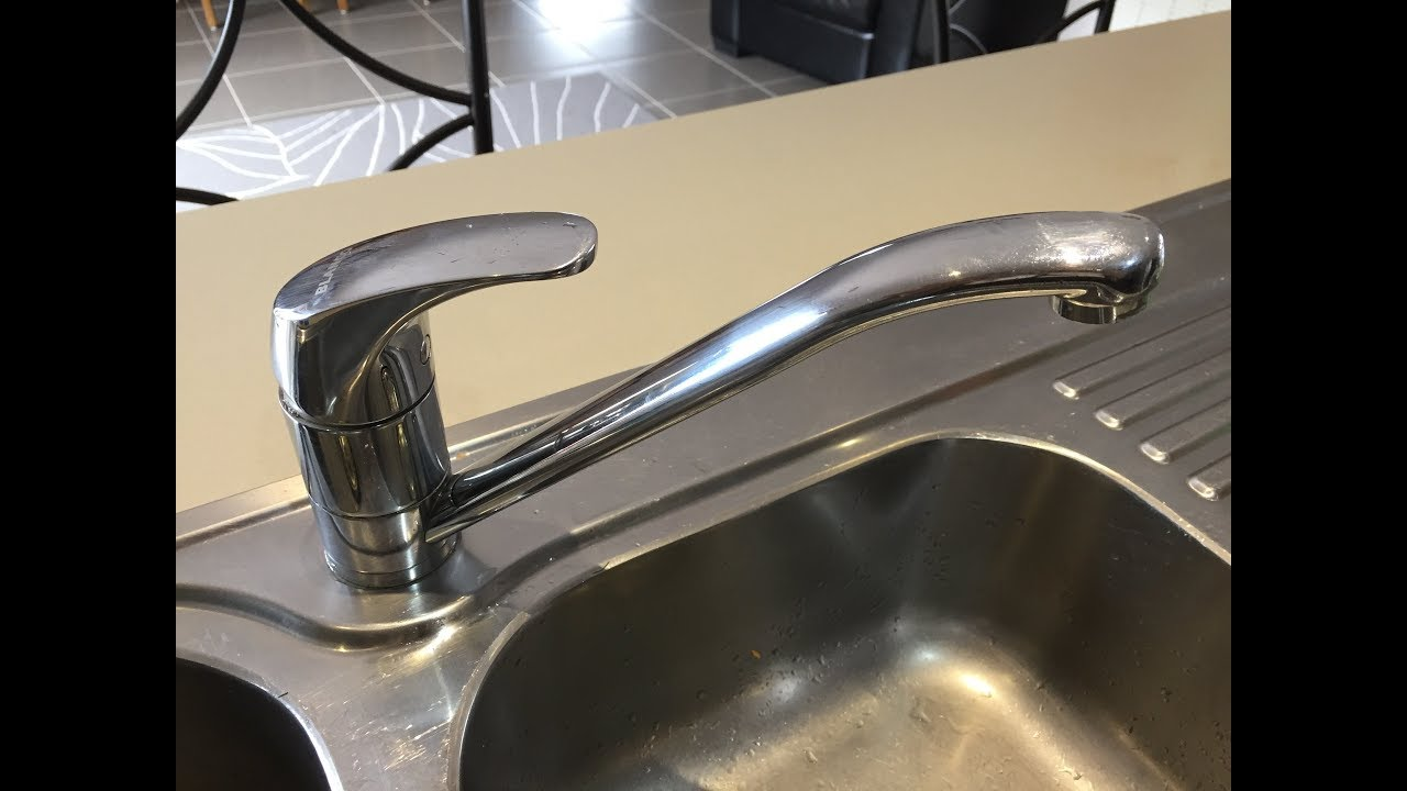 how to repair a mixer tap faucet tighten the base stop it wobbling spinning loose maintenance