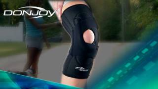 new lenox brace shop the donjoy lateral j knee support video