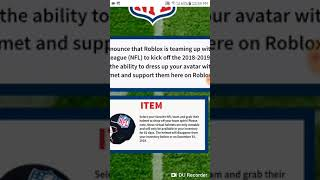 ROBLOX| how to get 32 different NFL helmets for free(NFL Events)
