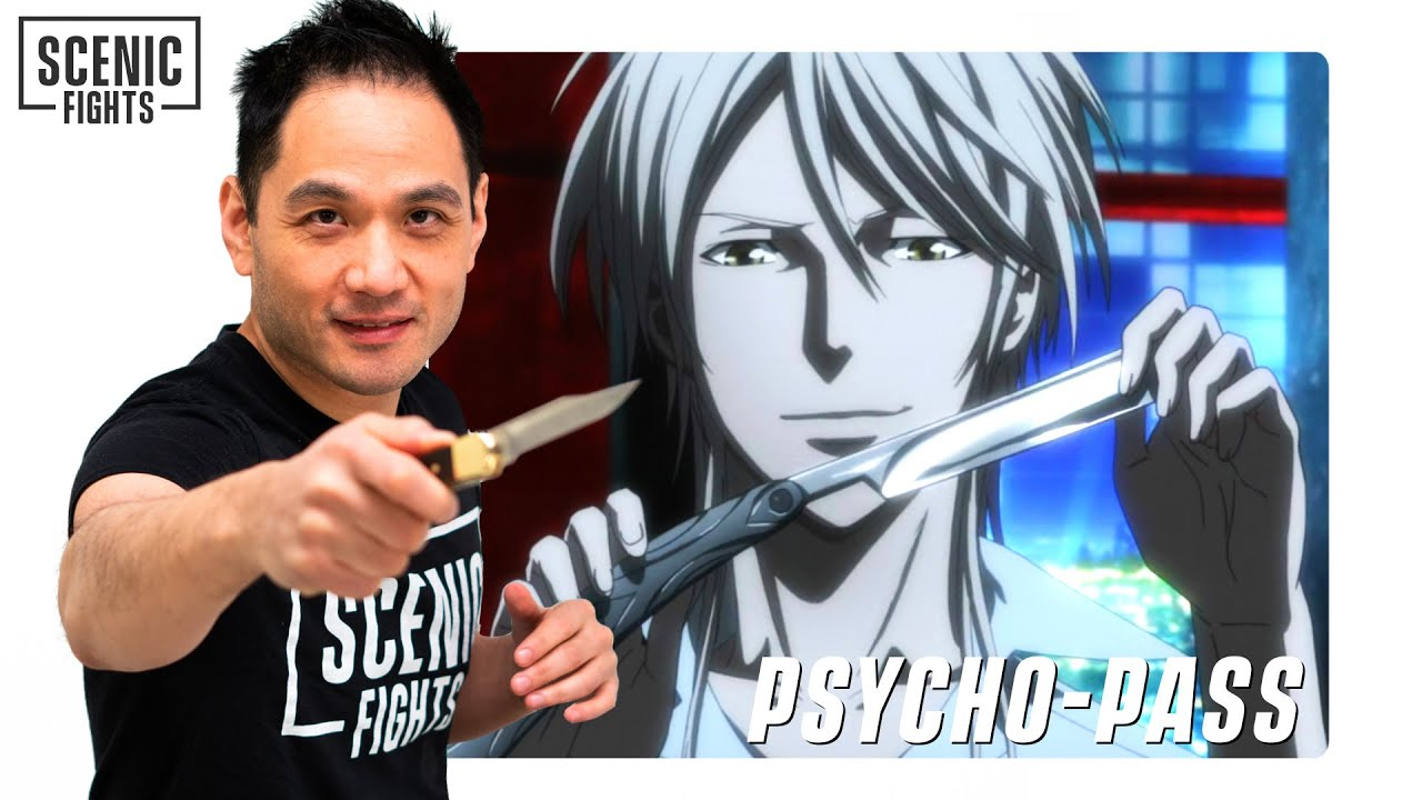 Knife Expert Breaks Down Anime Knife Fights   Psycho Pass   Scenic Fights