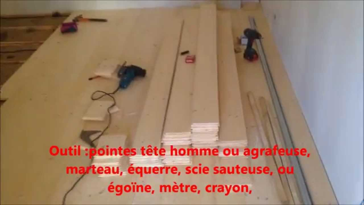 pose de parquet clou sur lambourdes youtube. Black Bedroom Furniture Sets. Home Design Ideas