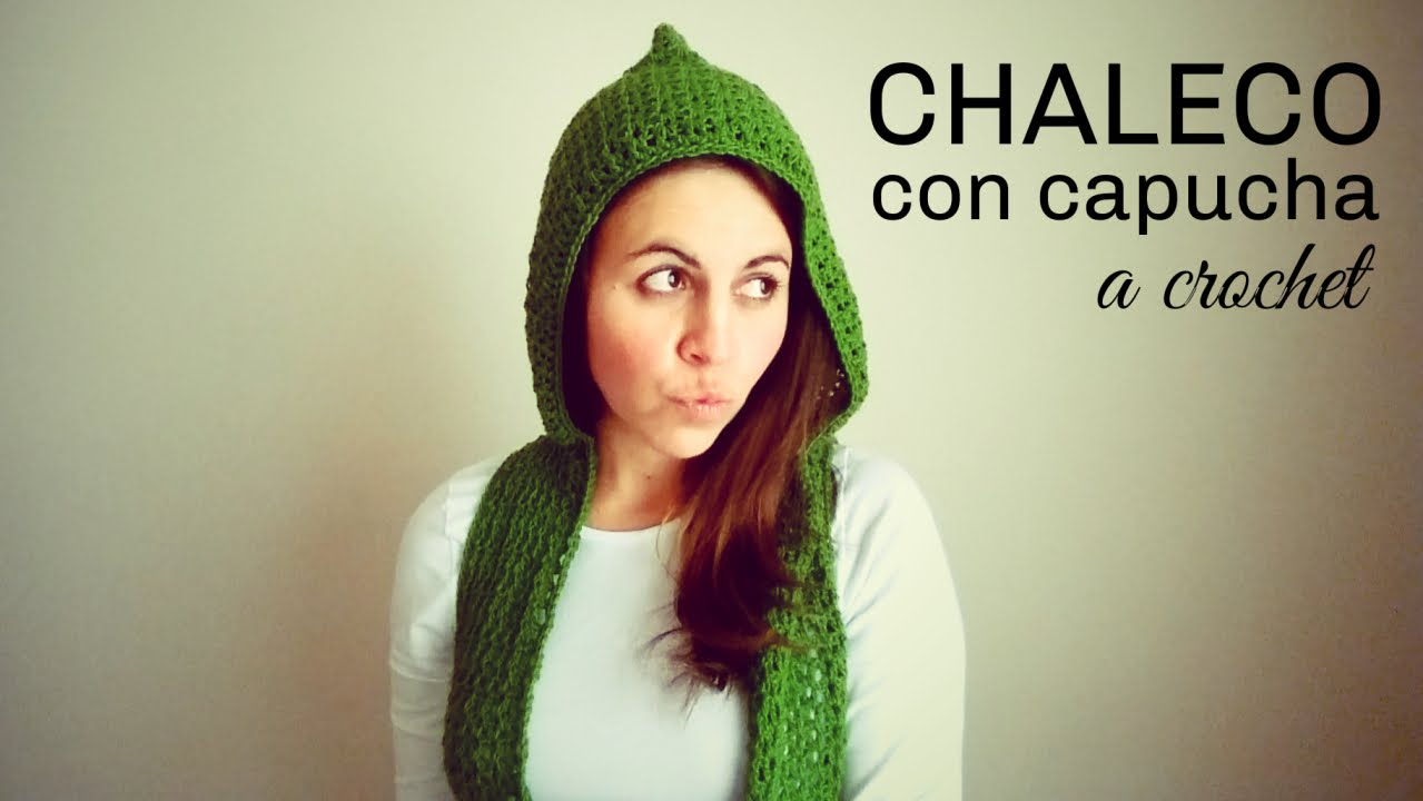 Chaleco con Capucha a Crochet (todas las tallas) | How to crochet a ...