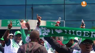 Нигерийские болельщики пляшут в Домодедово