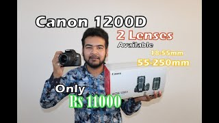 Canon DSLR 1200D | With 2 Lenses | | Rs18000 | | For sale | Dslr Camera | Full HD 1080 Recording |