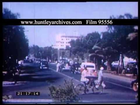 Streets Of Nairobi Kenya, 1950s - Film 95556