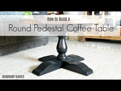 How to Build a DIY Round Pedestal Coffee Table {DIY Furniture Plans}