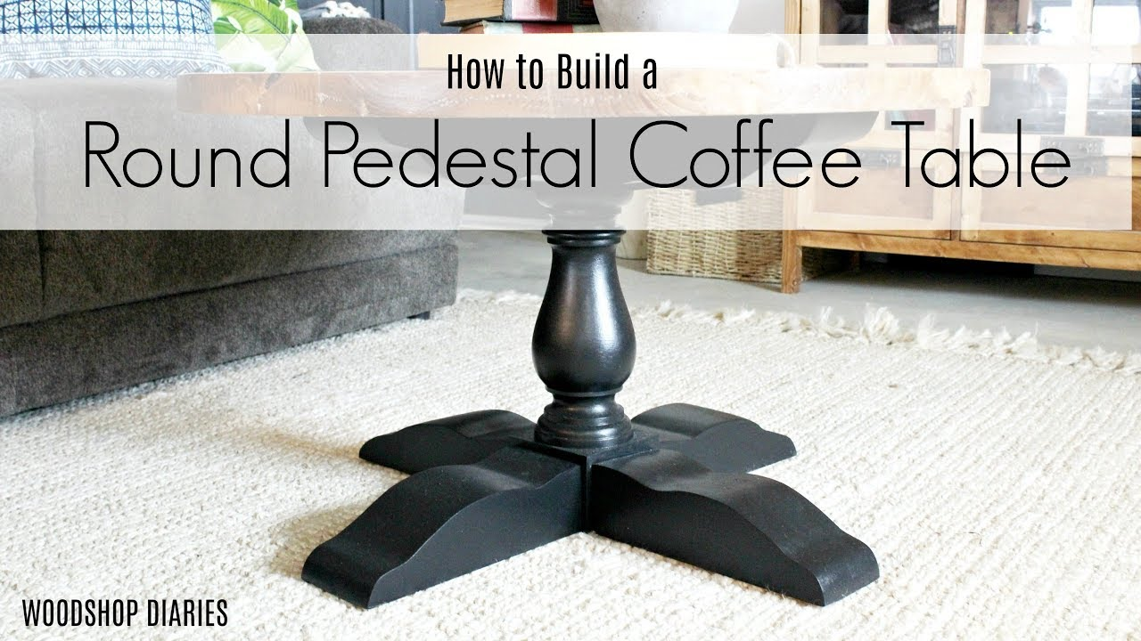 How To Build A Diy Round Pedestal Coffee Table Diy Furniture Plans Youtube