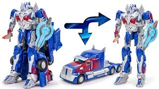 Transformers Movie AOE Battle Commander Optimus Prime Division Robot Car Toys
