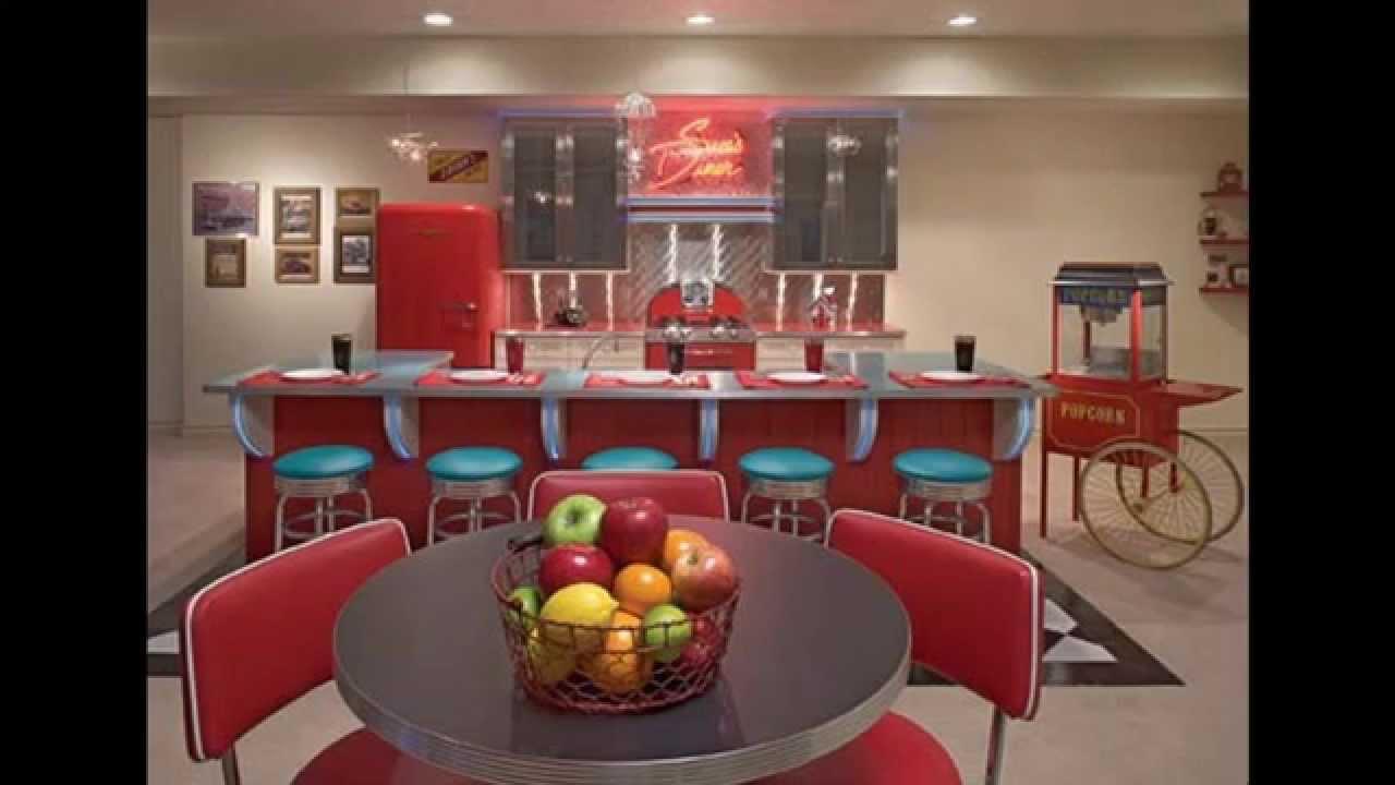 Retro kitchen decorating ideas - YouTube