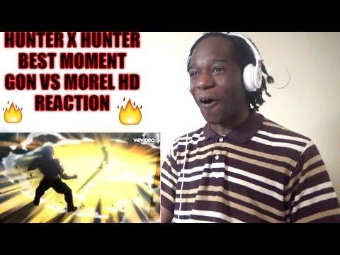 HUNTER X HUNTER BEST MOMENT GON VS MOREL HD REACTION