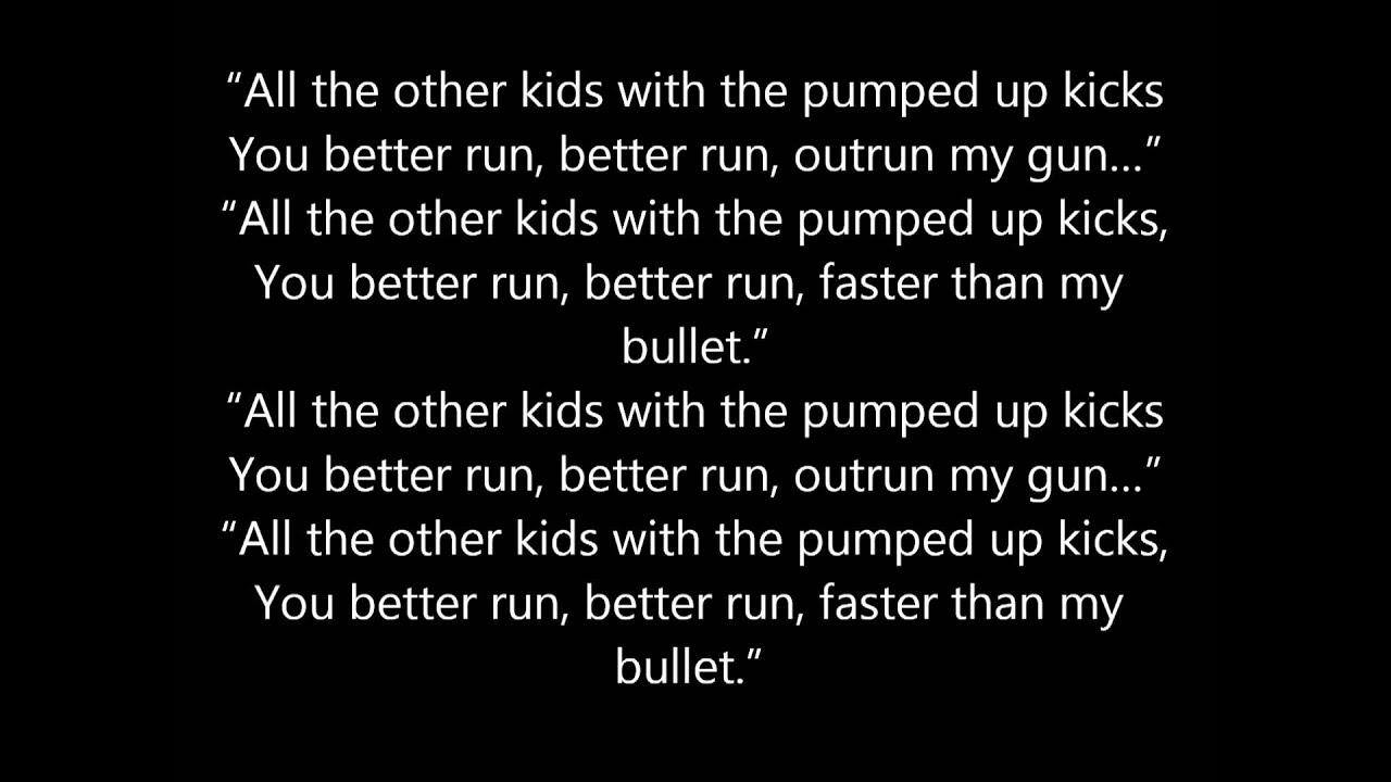 foster the people - pumped up kicks lyrics - YouTube