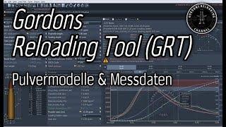 Gordons Reloading Tool GRT und wie Pulvermodelle entstehen