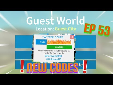 Roblox Guest World Episode 53 New Codes Youtube