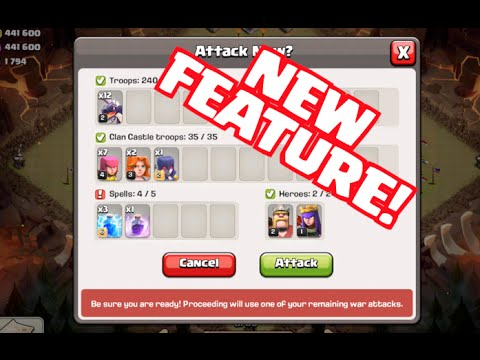 Clash of Clans Update - Clan War Attack Confirmation Screen!