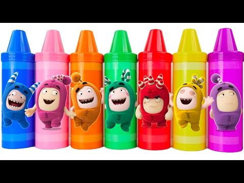 Learn Colors Play Doh Modeling Clay Baby Stroller Oddbods Disney Princess Finger Family Nursery Rhym