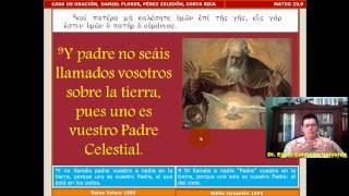 Mateo 054 Mt 23,1-14: Hipocresía de los Fariseos; vivir lo que se predica; rabí.