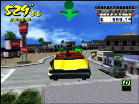 Crazy Taxi (PS2 Gameplay)