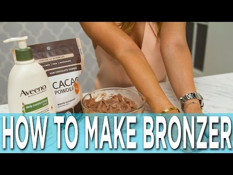 How To Make Bronzer Out of Cacao Powder!