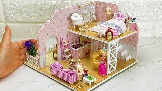 4 DIY Barbie Dollhouse (Bed room,Kitchen,Living room,garden)