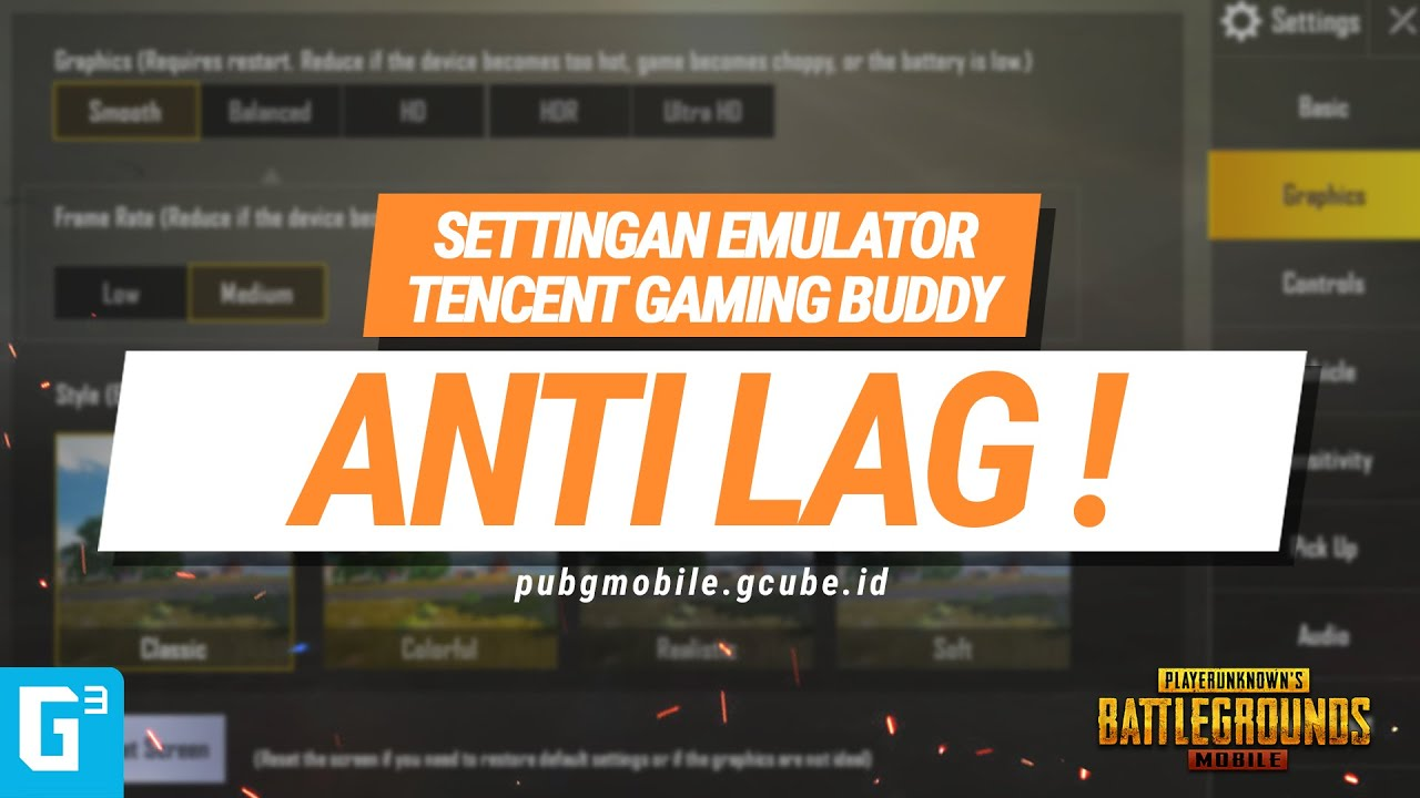 Setting Game Terbaik PUBG Mobile di Tencent Gaming Buddy! - GCUBE