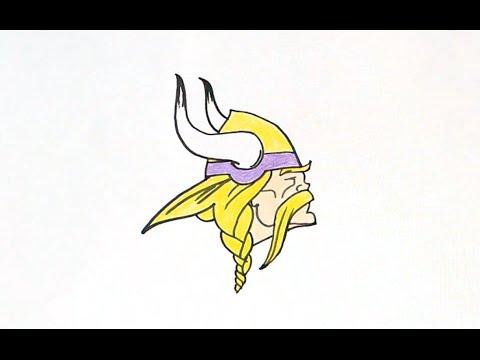 How To Draw The Minnesota Vikings Logo