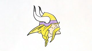 How to Draw the Minnesota Vikings Logo