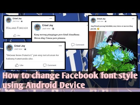 How To Change Facebook Font Style Using Android Device | VERY EASY