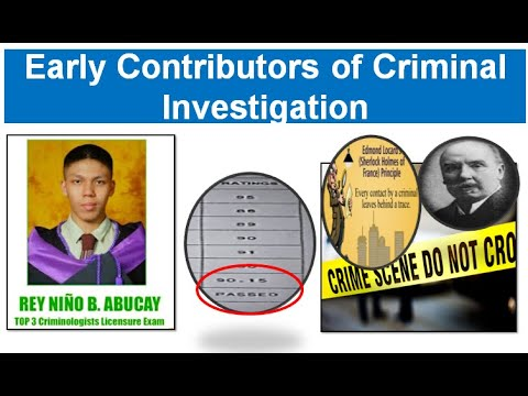 Early Contributors Of Criminal Investigation
