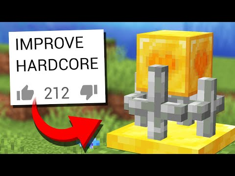 Adding NEW Updates to Minecraft HARDCORE Mode (Comments to Crafting)