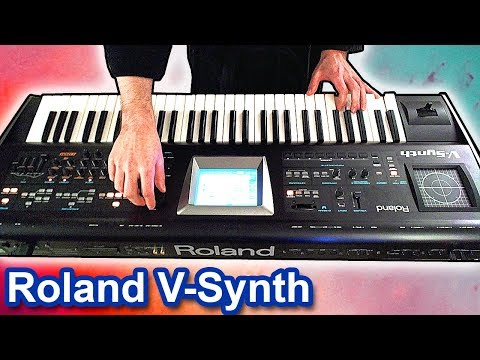 ROLAND V-SYNTH - Ambient chillout music soundscape 【SYNTH DEMO】